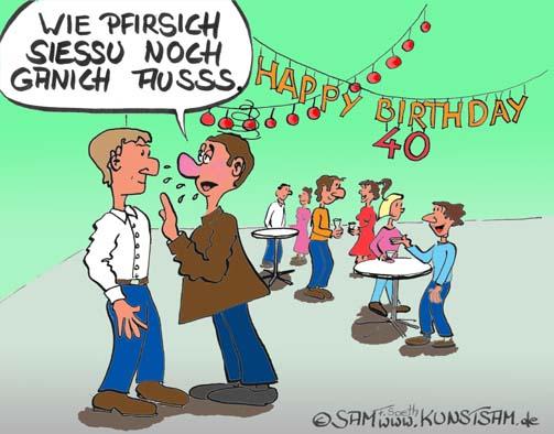 Cartoon zum 40 geburtstag glückwunsch herzlichen glückwunsch zum 40