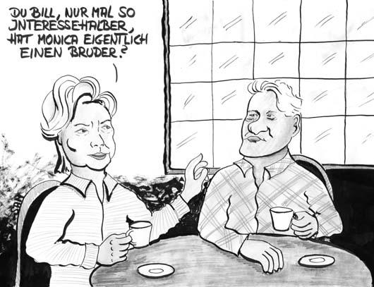 Karikatur hillary und bill clinton karikaturen zu ausland und